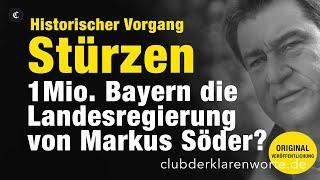Historisch.1 Mio. können Regierung in Bayern stürzen. Landtag unter Söder ab 14. Okt. unter Druck.