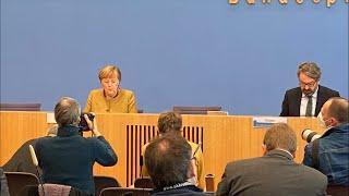 Merkel: Harter Corona-Kurs ist politische Entscheidung. Direkt aus der Bundespressekonferenz.